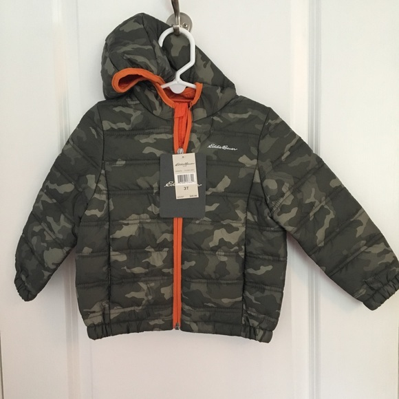 34f2476ec3683 Eddie Bauer Jackets & Coats   Camouflage Puffer Jacket With Hood ...